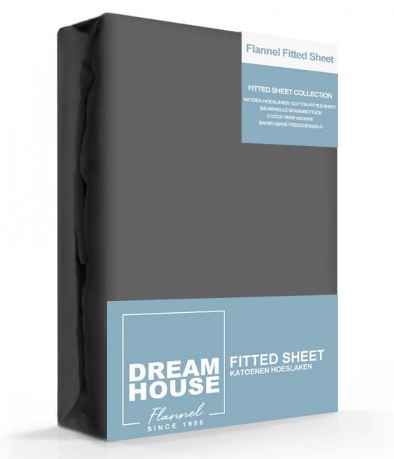 Dreamhouse Hoeslaken Flanel Antraciet