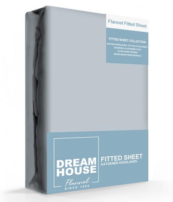 Dreamhouse Hoeslaken Flanel Grijs