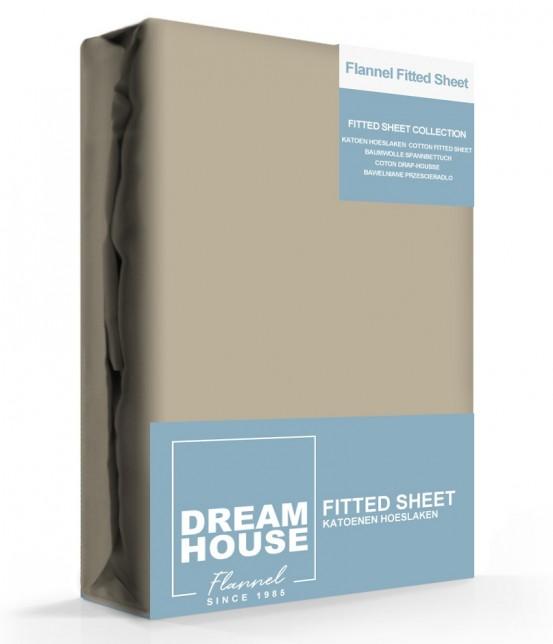 Dreamhouse Hoeslaken Flanel Taupe