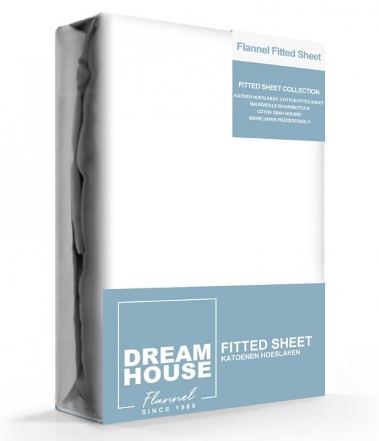 Dreamhouse Hoeslaken Flanel Wit