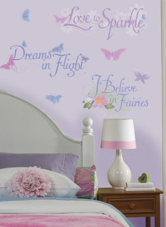 Fairies Glitter Muurstickers (RoomMates)
