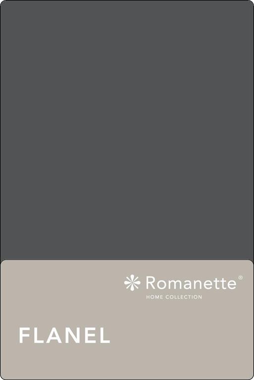 Flanellen Lakens Romanette Antraciet