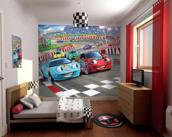 Auto 3D Fotobehang (Walltastic)