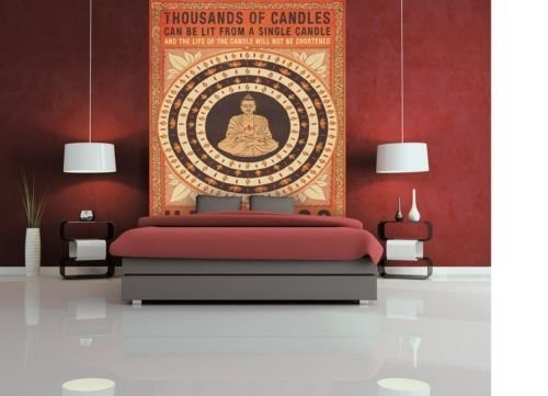 Candles Buddha Fotobehang (Wallpaper)