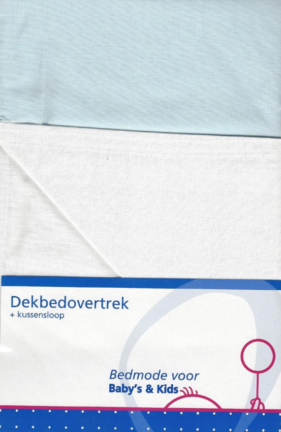 Ledikant Dekbedovertrek Double Face Mint/Wit