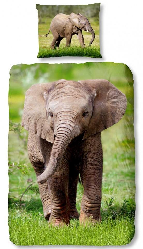 Good Morning Kids Dekbedovertrek Elephant