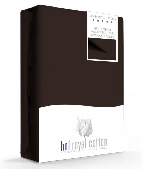 Split-topper Hoeslaken Bruin HNL (Percal)