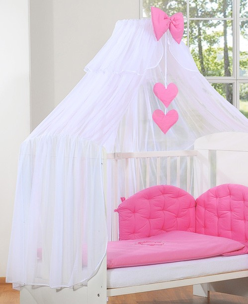 3-Delig Bedset Chic Voile Fuchsia