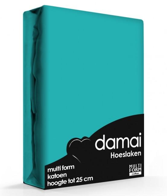 Hoeslaken Multiform Damai  Turquoise (Katoen)