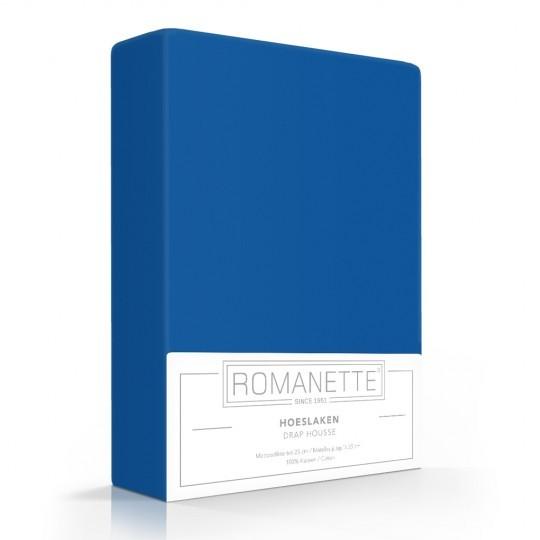 Romanette Hoeslaken Katoen Kobalt Blauw