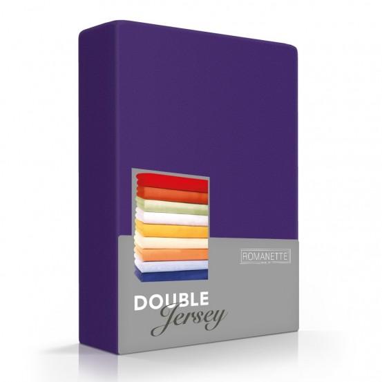 Romanette Hoeslaken Double Jersey Paars