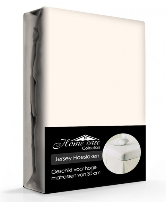 Home Care Jersey Hoeslaken Creme