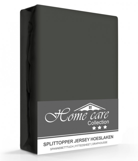 Homecare Jersey Splittopper Hoeslaken Antraciet