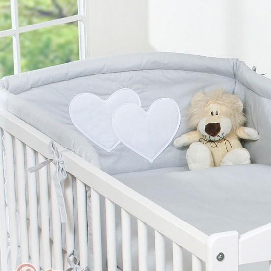 My Sweet Baby Hoofdbeschermer 'Two Hearts' Grijs