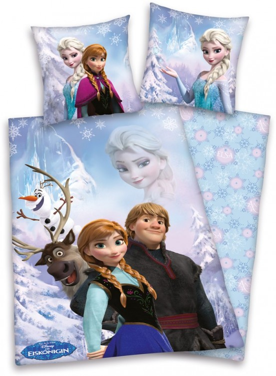 Dekbedovertrek Frozen Anna & Kristoff 140x200cm