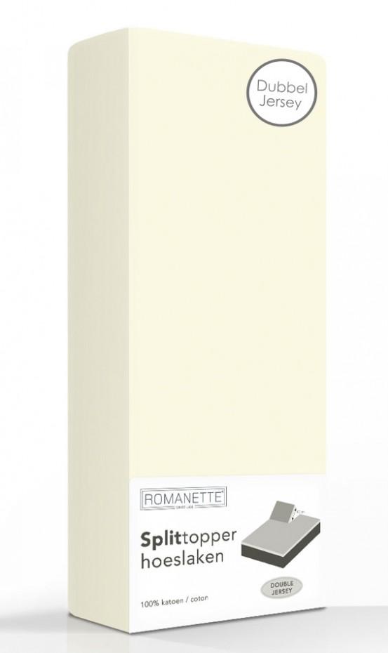 Double Jersey Splittopper Hoeslaken Romanette Ivoor