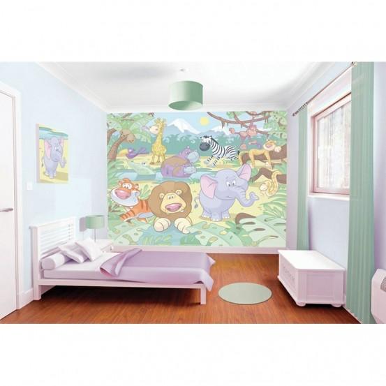 Baby Jungle Fotobehang (Walltastic)