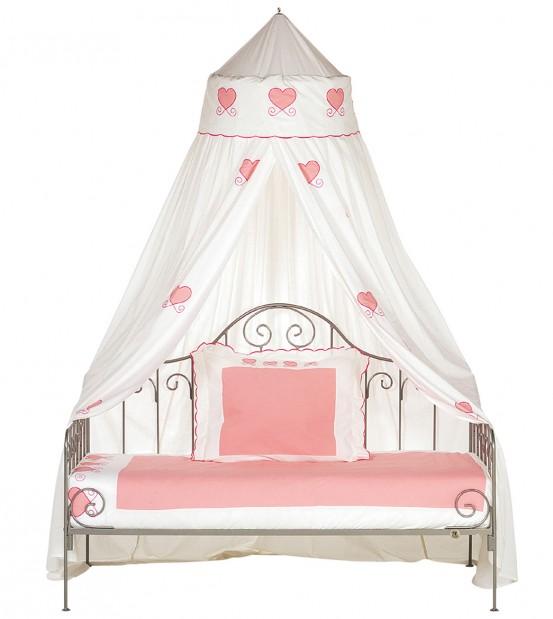Smeedijzeren Bedbank Fairy Wit