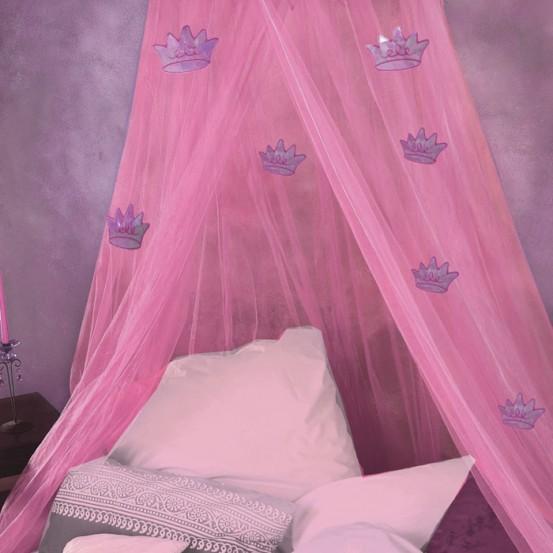 Klamboe Princess Roze met Kroontjes
