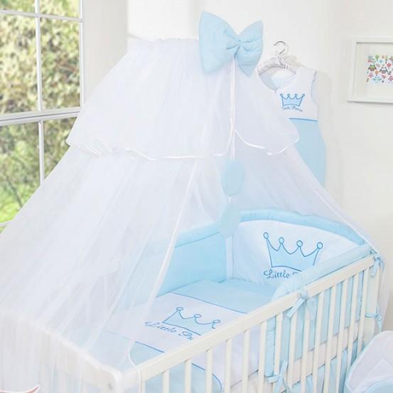 3-Delig Bedset Little Princess Voile Blauw