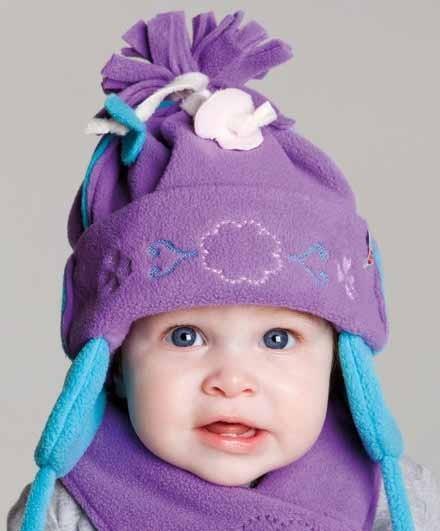 Lodger Artisan Fringes Muts Violet 1-3 jaar
