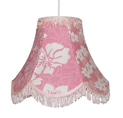 Taftan Hanglamp Tulp roze