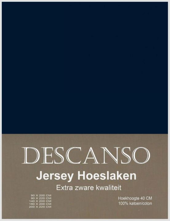 Descanso Jersey Hoeslaken Navy