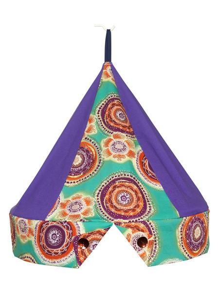 Klamboekroon Circel Oranje/Paars