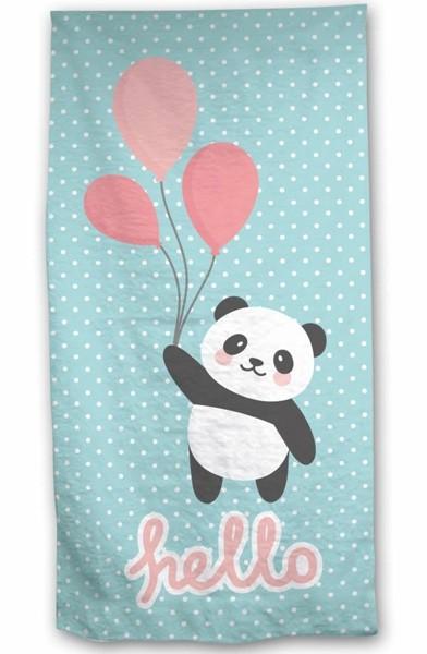 Panda Hello Strandlaken 70 x 140 cm