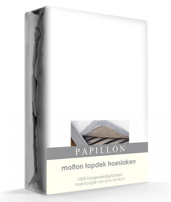 Topper Molton Hoeslaken Katoen Papillon