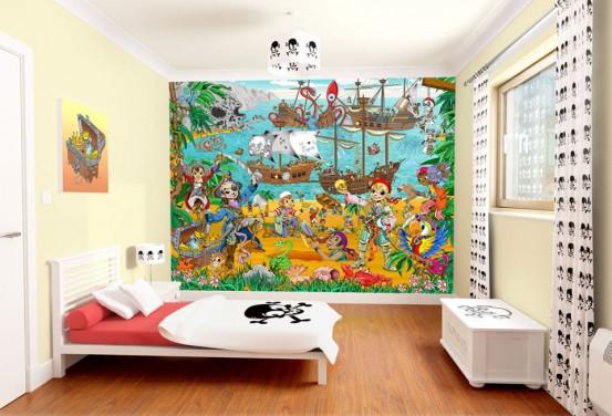 Piratenkamer 3D Fotobehang (Walltastic)