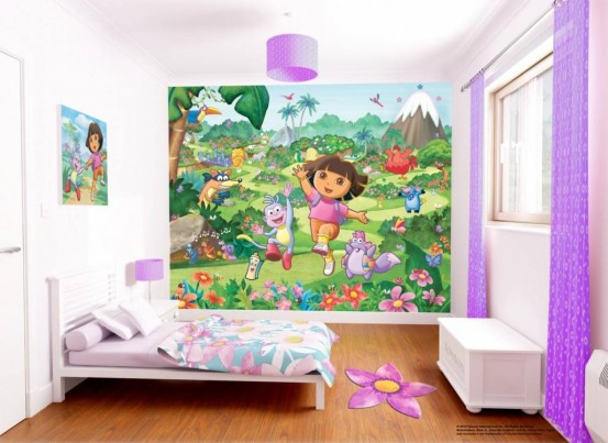 Dora the Explorer Fotobehang (Walltastic)