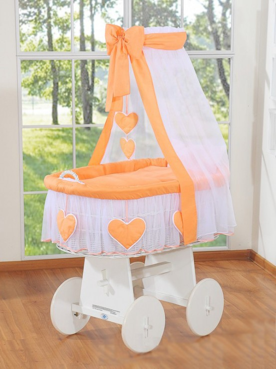 Rieten Wiegje Romantica Oranje