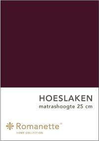 Romanette Hoeslaken Katoen Aubergine