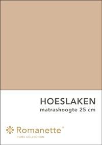 Romanette Hoeslaken Katoen Camel-90 x 200 cm