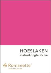 Romanette Hoeslaken Katoen Fuchsia-90 x 200 cm