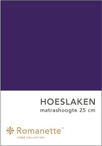 Romanette Hoeslaken Katoen paars-90 x 200 cm
