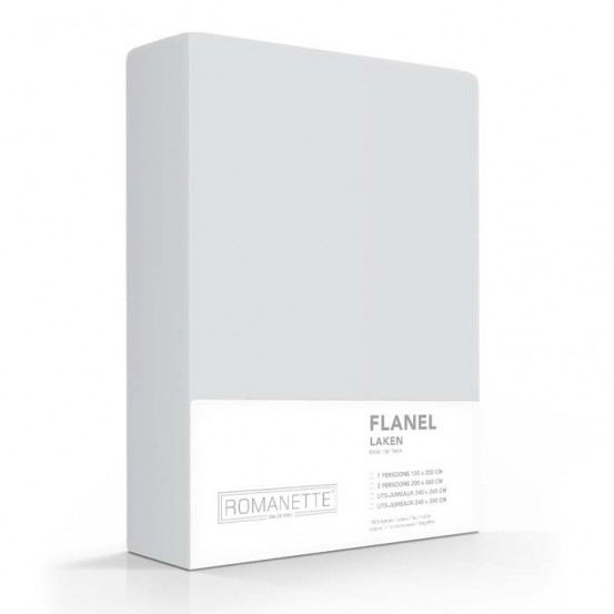 Flanellen Lakens Romanette Zilver