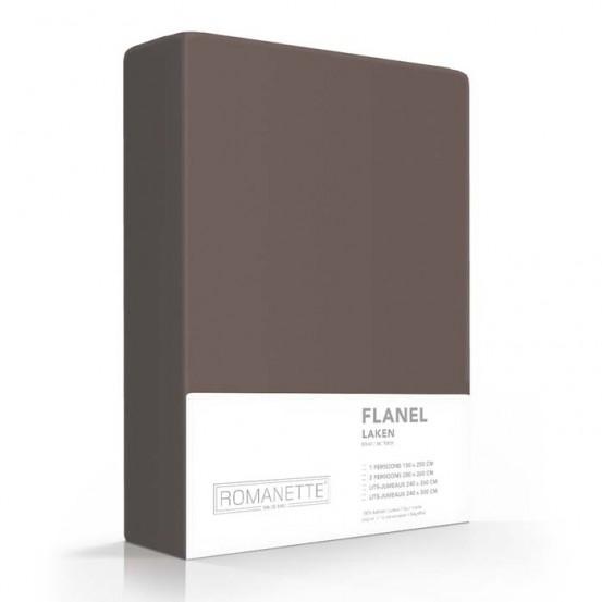 Flanellen Lakens Romanette Taupe
