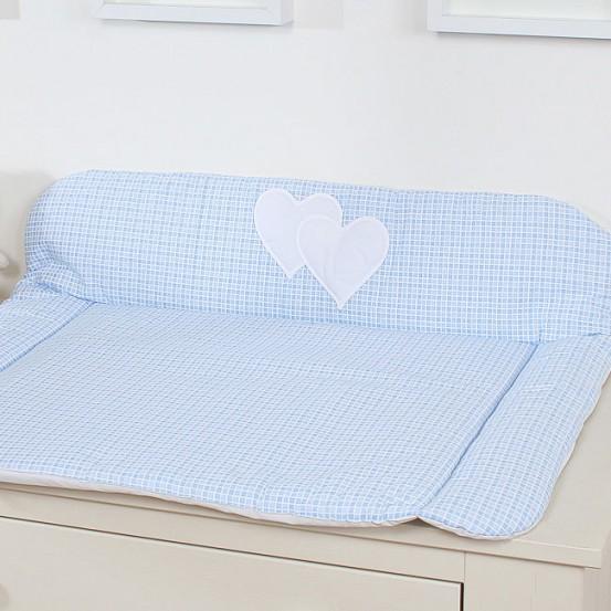 My Sweet Baby Aankleedkussen Two Hearts Ruit/Blauw