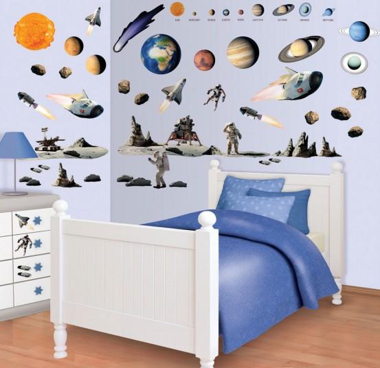 Space Adventure Muurstickers (Walltastic)