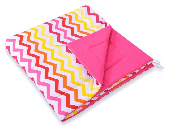 Speelkleed Tipi Tent Chevron Pink-Yellow