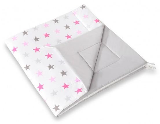 Speelkleed Tipi Tent Stars Grey-Pink