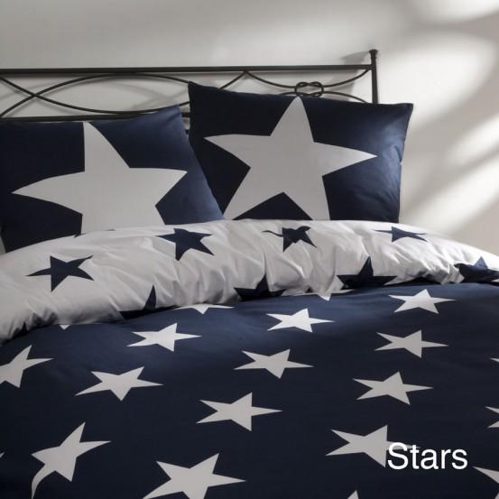 Day Dream Dekbedovertrek Stars Navy