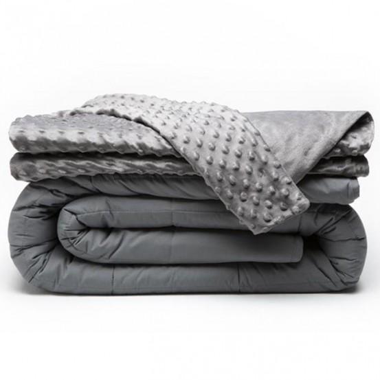 Swiss Nights Verzwaringsdeken - 6 KG - Weighted Blanket + Mink hoes - 80x120 cm