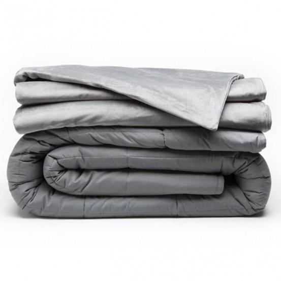 Swiss Nights Verzwaringsdeken - 6 KG - Weighted Blanket + Velvet hoes - 80x120 cm