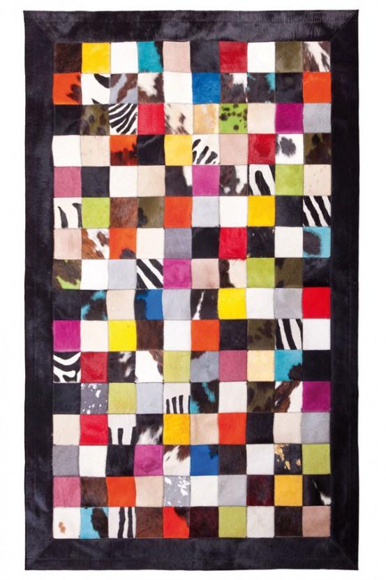 """Tapijt Koeienvel """"Multicolor"""" 120 x 180 cm"""