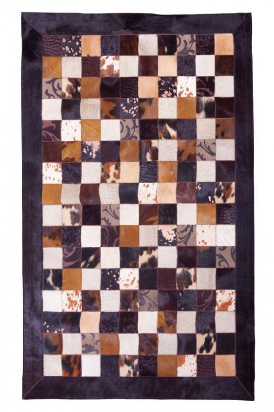 "Tapijt Koeienvel ""Multicolor"" Bruin 180 x 240 cm"