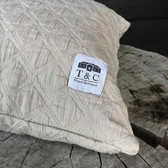 Town & Country Kussenhoes Iris Beige 50×50 cm
