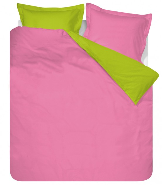 Dekbedovertrek Two Colours Fuchsia/Lime